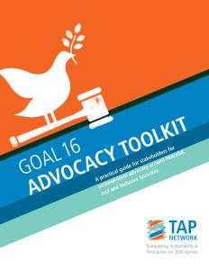 Goal 16 Advocacy Toolkit